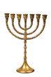 A Hanukkah Menorah isolated on white background