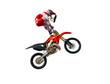 Fototapete Motocross - Isoliert - Motorsport