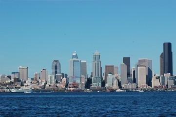 Seattle skyline on waterfront