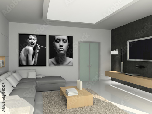 Living Room Designer on Modern Interior  3d Render  Living Room  Exclusive Design     George