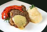 Beef steak with bearnaise sauce poster