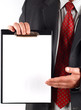 businessman holding clipboard #11
