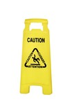 Caution poster