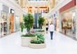 Leinwanddruck Bild - Shopping hall #4. Motion blur