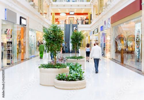 Leinwanddruck Bild Shopping hall #4. Motion blur