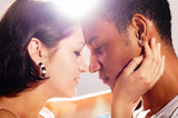 Great Couple In Love Kissing - lens flare poster