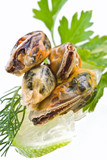 Seafood-mussels poster