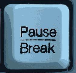 blaue Pause
