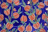 oriental painted ceramic tiles poster