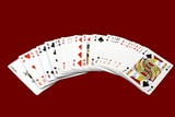 Pack of playing cards. Gambling. Game poster