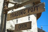 Trading Post Sign poster