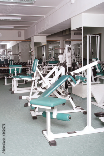 The champion in a fitness center