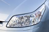 Headlight of modern elegant vehicle, close-up shot. poster