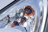Headlight of modern vehicle, close-up shot. poster