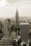 Fototapety Manhattan panorama in sepia