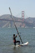 Windsurfer with Golden Gate boarding