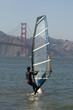 Windsurfer with Golden Gate