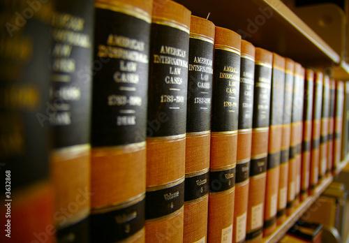 Law books on a shelf - 3632868