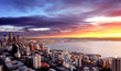 Sunset over City of Seattle