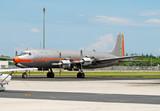 Vintage propeller driven plane poster