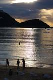 Concha Bay and Concha Beach at twilight. San Sebastian, Spain poster