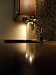 Elegant Home Kitchen with Poured Concrete Counter