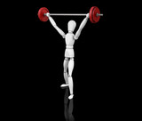 3D render of someone lifting weights poster