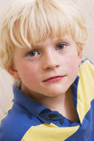 cute blond little boy portrait