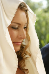 Young bride on her wedding day