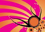 trendy vector urban floral grunge design poster