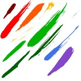 Brushes - Highly detailed illustration as brush smudge poster