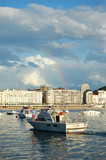 Recreation Ship in Concha Bay. San Sebastian. Spain poster