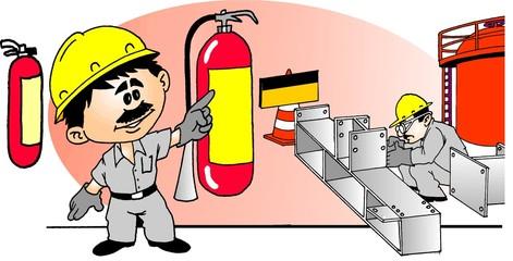 Trabalhador Extintor