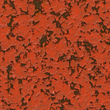 Rendered texture of peeling red paint over metal poster
