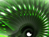 green abstract thing poster