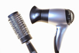 black comb and hair-dryer poster