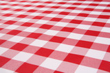 A traditional plaid picnic tablecloth fabric poster