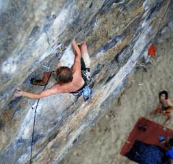 climbing   limestone on the beach   Tonsi Thailand