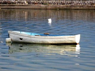 boat at ohrid lake