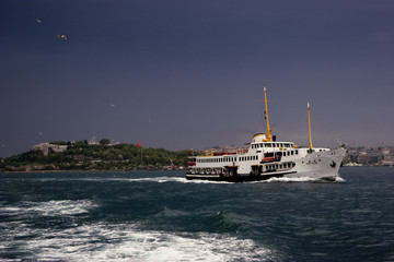Ship in Bosphorus