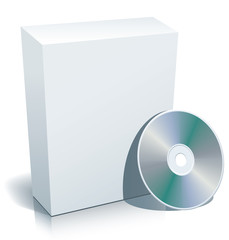 Blank 3D box with CD.