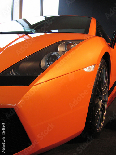 Metallic orange supercar