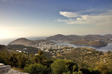 Patmos Island and  harbour of Skala, Greece poster