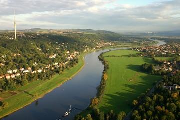 Dresden Elbe Luftbild