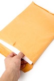 big envelope big envelope and document with white background poster