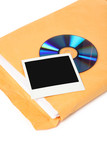 photo, CD and document, concept of digital file poster