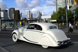 Classic car in Melbourne downtown, Australia poster