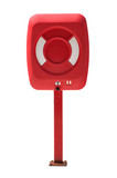 Life buoy cabinet, isolated on white, with clipping path. poster