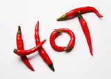 Red hot chilli peppers spelling the word