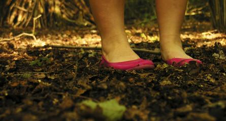 Pinkk Shoes in Woods